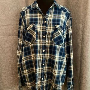 American Eagle Outfitters Blue Flannel